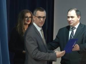 Olivier Bouriaud a fost premiat de rectorul interimar, în luna martie, pentru rezultatele din domeniul cercetării