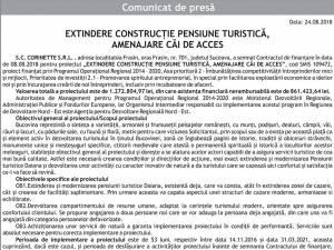 EXTINDERE CONSTRUCȚIE PENSIUNE TURISTICĂ, AMENAJARE CĂI DE ACCES