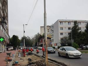 15 locuri de parcare în spic urmează să fie disponibile în urma modificărilor făcute pe capătul străzii Mărășești