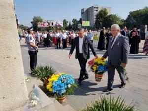 Primarul Sucevei, împreună cu primarul orașului Soroca, Victor Său