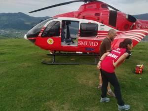 Intervenție cu un elicopter SMURD pentru salvarea unui turism rănit grav în zona vârfului Toaca din Humor