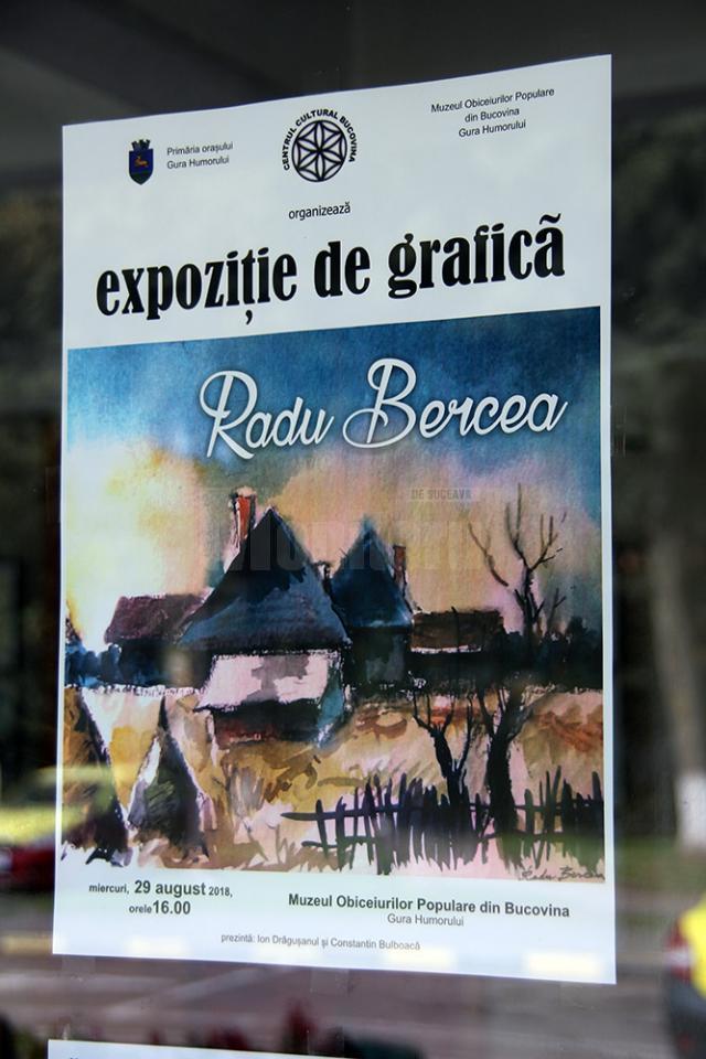 Expoziţie aniversară de grafică semnată Radu Bercea, lansată la Gura Humorului