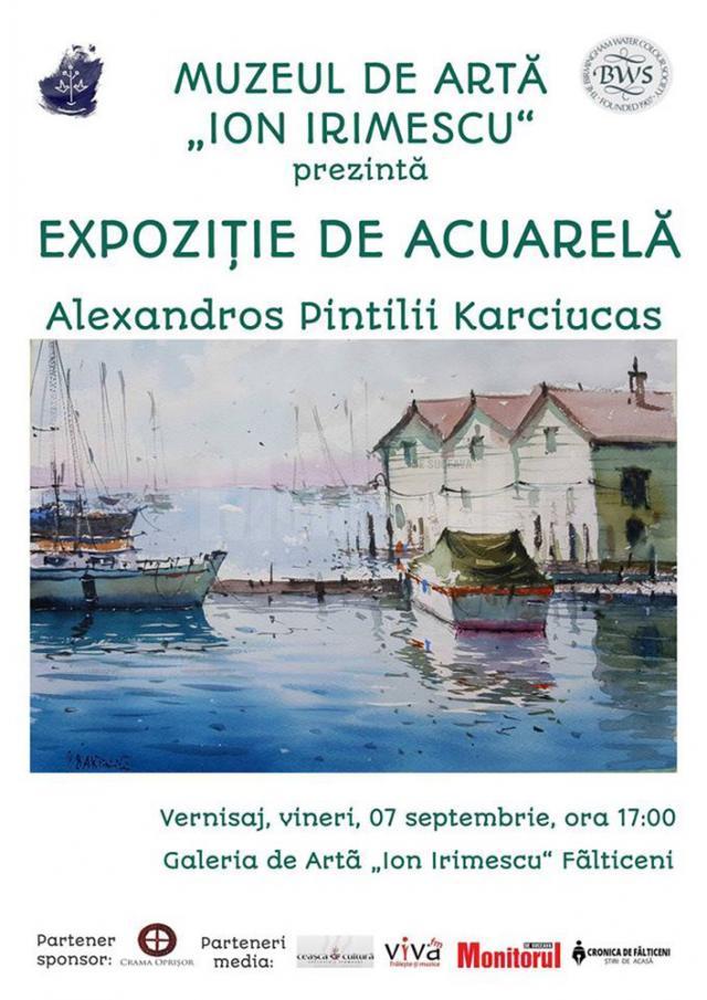 Artistul plastic Alexandros Karciucas Pintilii revine la Fălticeni cu o expoziţie personală, după cinci ani
