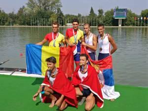 Viorel Georgel Iacob (stânga sus) de la CSM Suceava a câştiga doua medalii de bronz la Balcaniadă