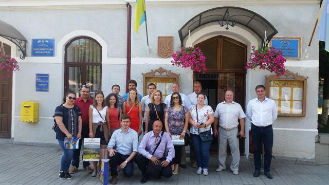 Fotografie la Storojineț, alături de autoritățile din orașul înfrățit