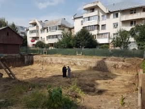 Amenajarea centrului social a început în laterala dreaptă a Catedralei de pe Mărășești