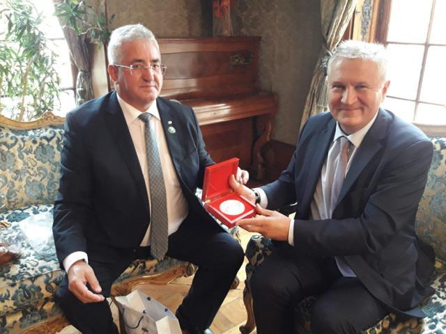 Ion Lungu a avut o întâlnire oficială cu ministrul plenipotențiar Oleg Ungureanu, adjunct al misiunii diplomatice