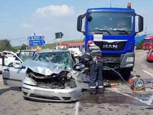 Accidentul a fost violent foto - ISU Suceava