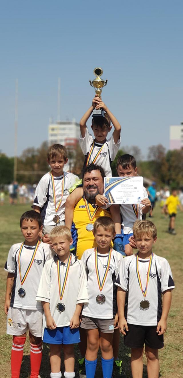 Echipa sub opt ani CSM Suceava, antrenor Vasile Conache