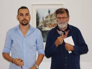 Alexandros Pintilii Karciucas și graficianul sucevean Mihai Pânzaru PIM