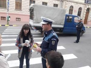 Poliţiştii au vizat în special trecerile de pietoni din zona şcolilor, în contextul începerii anului şcolar