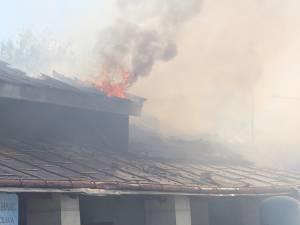 Focul a pornit din atelierul auto și s-a extins spre alte două depozite