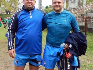 Andrei Varvaroi (dreapta) şi Stefăniţă Rusu sunt oamenii în jurul cărora se construieşte echipa de seniori din Gura Humorului