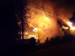 Incendiul a fost deosebit de violent