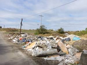 Groapa de gunoi de la ieşirea din Şcheia spre Mihoveni