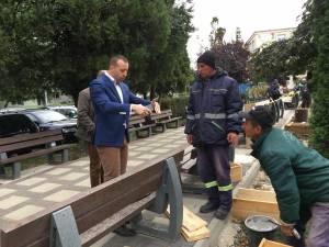 Viceprimarul Lucian Harsovschi a verificat lucrările de reamenajare a Parcului Vladimir Florea