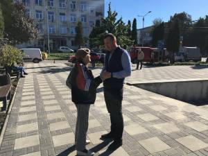 Viceprimarul Lucian Harsovschi a verificat lucrările de reamenajare a Parcului Vladimir Florea 2