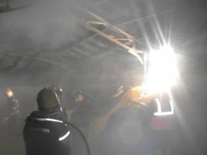 Incendiul a fost lichidat după miezul nopții