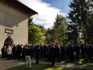 Slujba de înmormânatare pentru Jeni Mandachi a avut loc la biserica din Sf. Ilie, ctitorită de Ștefan cel Mare