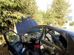 Autoturismul Skoda Octavia condus de fostul poliţist