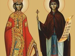 Icoana oficială Sfânta Parascheva şi Sfânta Ecaterina
