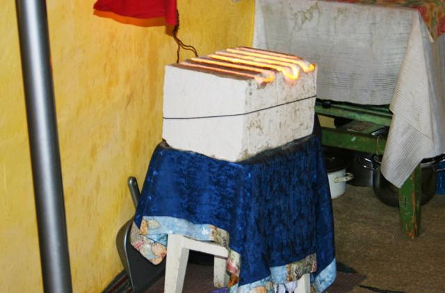 Sursă de încălzire electrică improvizată