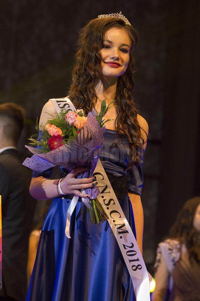 """Titlul de Miss Boboc 2018 al Colegiului Național """"Ștefan cel Mare"""" Suceava -  Emilia Crușninschi"""