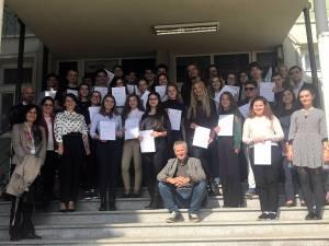 """Diplome de atestare a competențelor în limba germană, înmânate elevilor Colegiului """"Petru Rareș"""""""