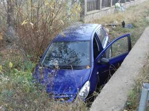 Accident rutier grav la Grămești, după ce un autoturism a ieșit în afara drumului