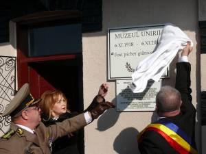 Dezvelirea plăcii comemorative şi inaugurarea Muzeului Unirii