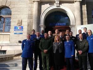 Ofiţeri jandarmi din şapte ţări francofone şi din România, într-o vizită de documentare în judeţul Suceava