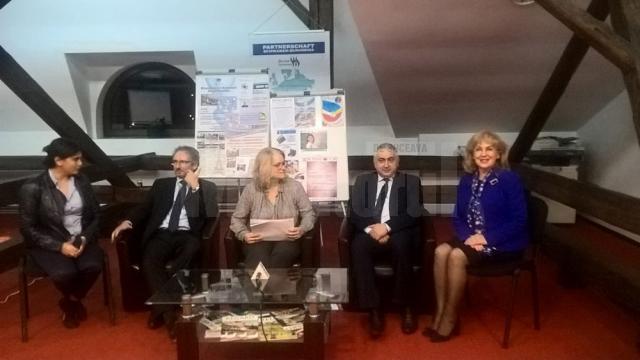 Corina Stănilă,  Michel Monsauret, Hélène Roos, Valentin Popa şi Sanda-Maria Ardeleanu