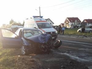 Trei persoane au fost rănite în accident