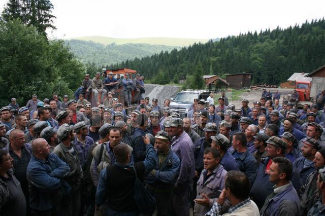 Mineri in greva