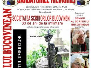 """Trei scriitori vor primi luni, la Biblioteca Bucovinei, titlul de """"Senior al Scrisului Bucovinean"""""""