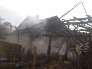 Două gospodării din Capu Codrului, afectate de un puternic incendiu