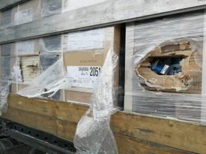 Țigările erau ascunse in coletele cu materiale de construcții