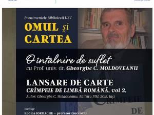 Întâlnire de suflet cu prof. Gheorghe Moldoveanu, la Biblioteca USV