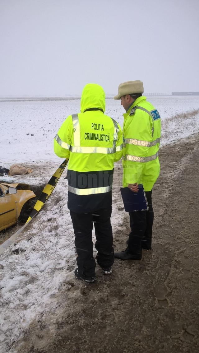 politisti la locul faptei