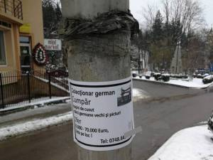 Au reapărut în Suceava anunţurile prin care aşa-zişi colecţionari germani cumpără maşini de cusut vechi şi picturi