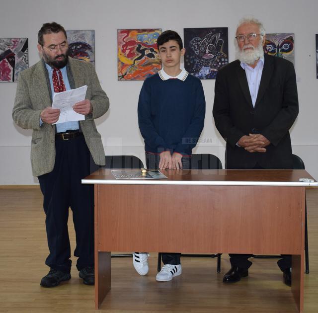 Pictorul profesor Constantin Ungureanu, Andrei Pennazio și profesorul Constantin Bulboacă