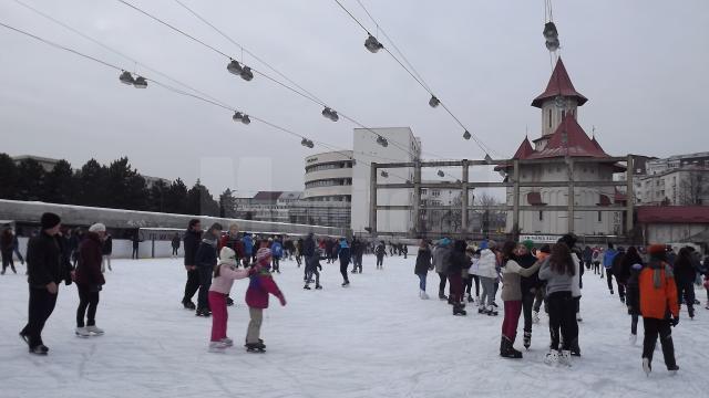 Patinoarul Areni se deschide de Ziua Bucovinei