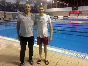 Șerban Cotos și antrenorul Sorin Rață