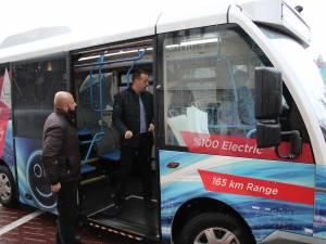 Autobuzul electric Karsan Jest adus joi la Primăria Suceava