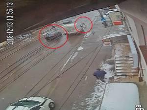 Una dintre imaginile care surprind momentul accidentului
