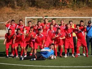 Augustin Cărbune, alături de colegii săi din echipa de juniori Under 19 de la LPS