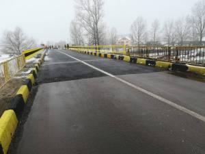 Podul rutier de la Milișăuți a fost redeschis circulaţiei luni dimineaţă
