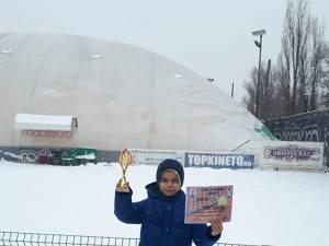 Karlo Piticaru din Câmpulung Moldovenesc a câştigat trofeul la Cupa de Iarnă de la Iași