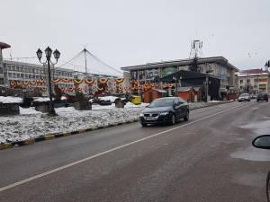Strazi inchise în zona centrală a Sucevei