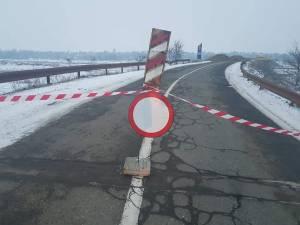Podul de la Veresti a fost inchis